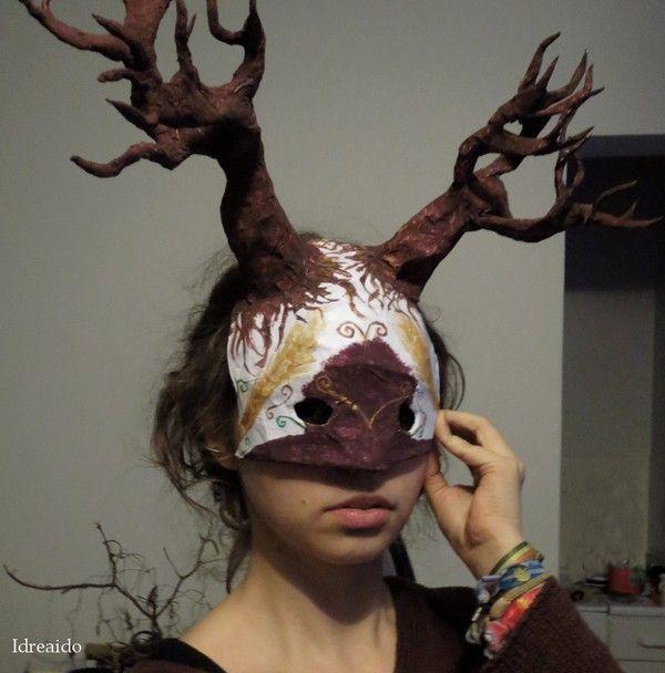 Mask med träd av Ida på Idreaido