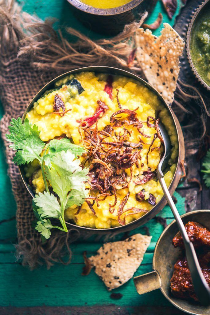 Moong Dal Daliya Khichdi is a healthy, one pot meal made using broken wheat, moong dal and spices. Serve this yummy dish with Gujarati Kadhi and ghee.