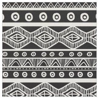 Tissu tribal aztèque noir et blanc 2 de motif