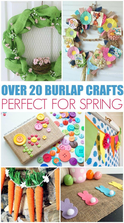 211 best diy burlap projects images on pinterest burlap projects over 20 spring burlap crafts for your home