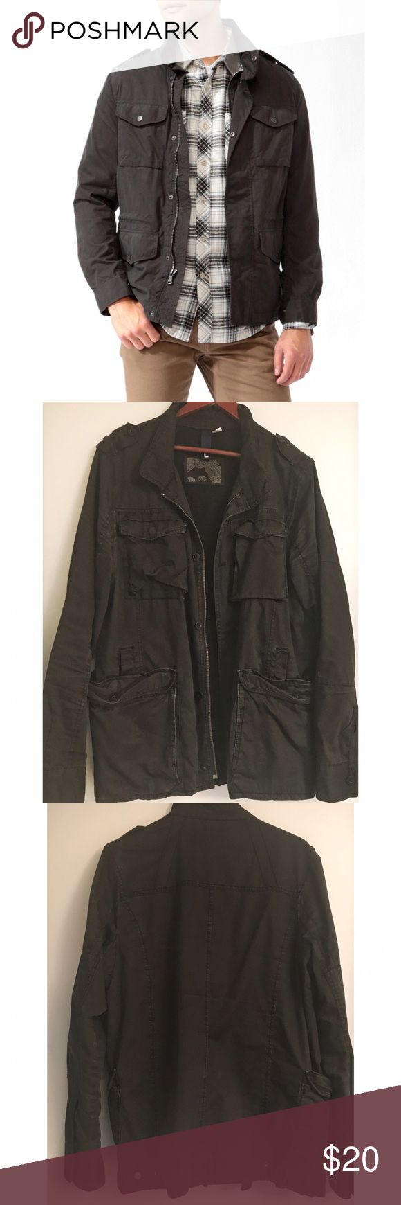 H&M Men's Black Utility Jacket Awesome jacket with a semi-distressed look. H&M Jackets & Coats Utility Jackets