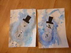 Alter: ab 1,5 Jahren Besonders gefördert: Feinmotorik Heute haben wir Schneeflocken und Schneemänner gemalt. Für die Schneeflocken ...