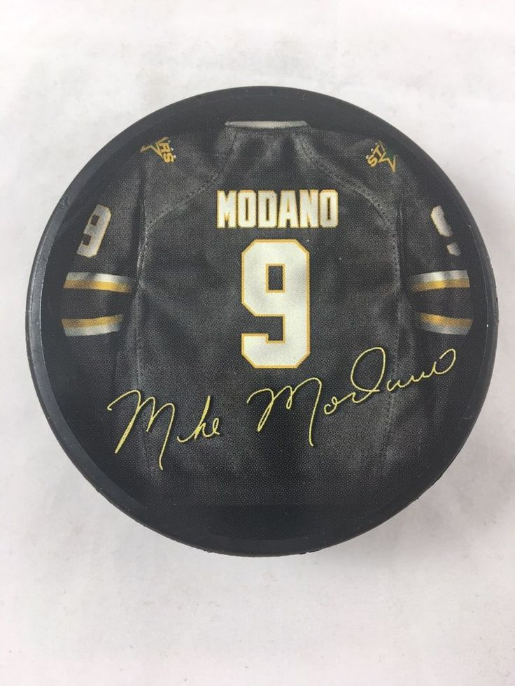 Mike Modano Hockey Puck Jersey Signture Series 9 Dallas