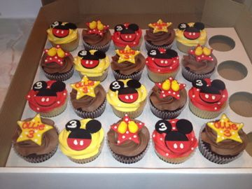 Micky Mouse Themed Cupcakes