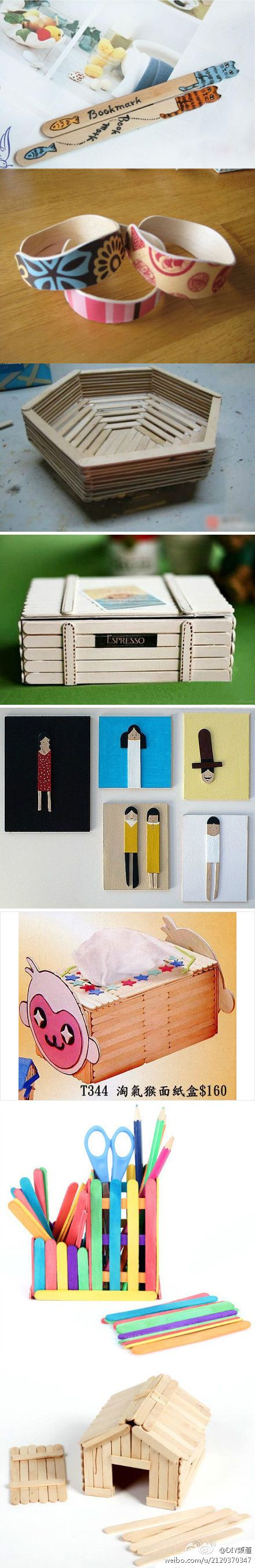 Popsicle sticks crafts