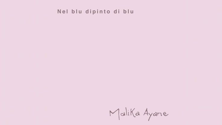 Malika Ayane - Nel Blu Dipinto di Blu (Colonna Sonora Spot Alitalia)