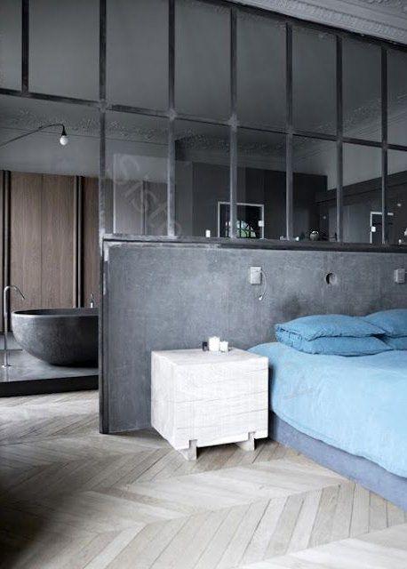 Verrière : une cloison vitrée dans la salle de bain - Marie Claire Maison