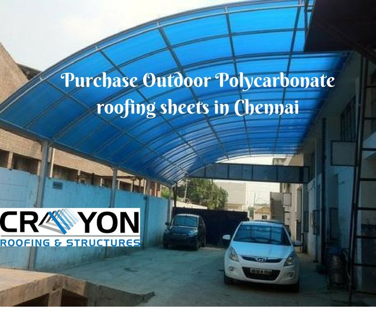 Purchase the outdoor Polycarbonate roofing Sheets in Chennai. Crayon Roofing & structures offers the best quality roofing sheets at a low price. Order now.   98414 99241 http://www.crayonroofings.com/poly-carbonate-sheets
