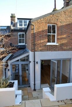 Complete renovation of semi detached house London contemporary-exterior