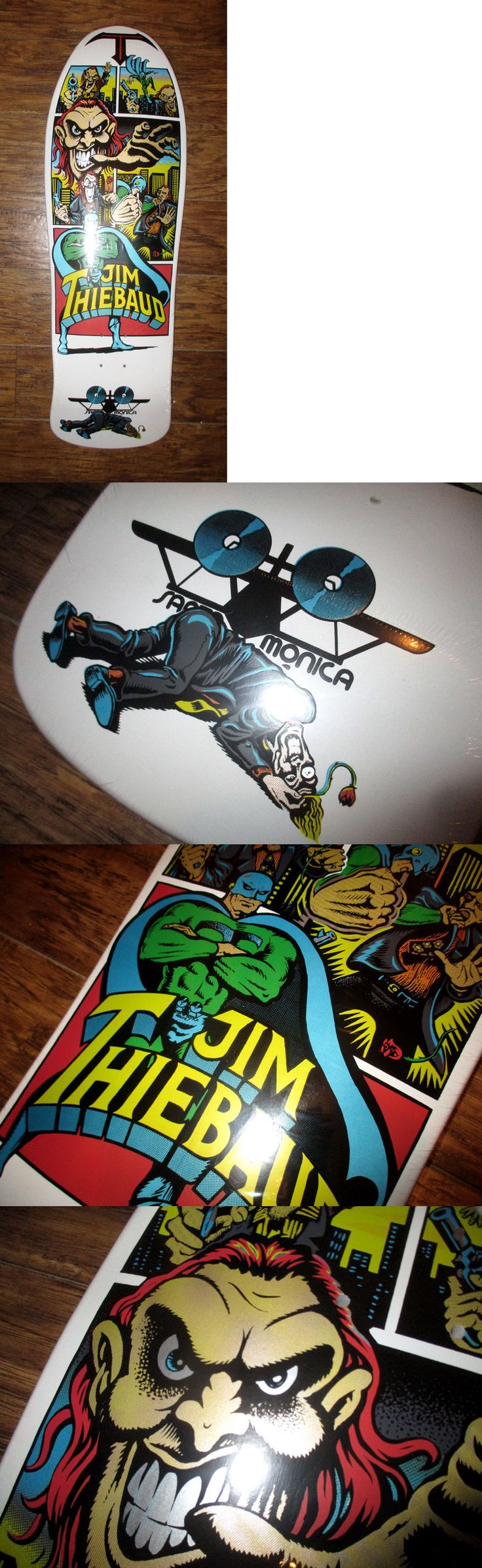 Stickers and Decals 47357: Santa Cruz Skateboard Jim Thiebaud Joker Old School Deck 10 White New Reissue ! -> BUY IT NOW ONLY: $59.99 on eBay!
