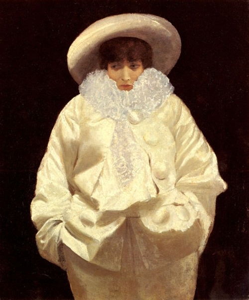 Giuseppe de Nittis- Sarah Bernhardt as Pierrot - 1902