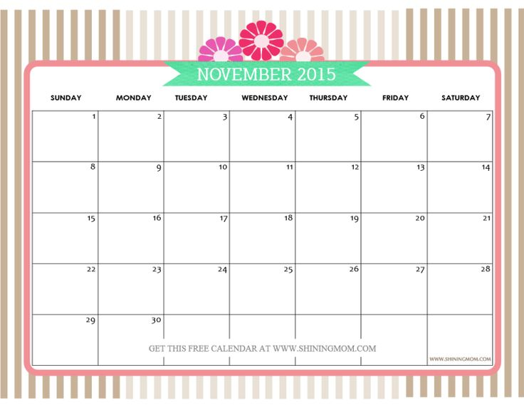 Calendar With N Holidays Pdf Free Download : Feel free to download november calendar print and