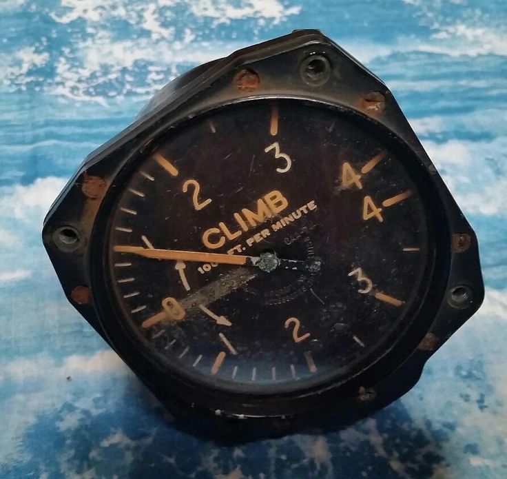 Excited to share the latest addition to my #etsy shop: Very Rare Climb Indicator Clock from a WWII Bristol Beaufighter - Hero of the battle of Britain - Heavy Fighter - #mantique #vintage #collectibles #bristol #beaufighter #fighter #britain #canada #airforce #WW2 #WWII http://etsy.me/2iapXQt