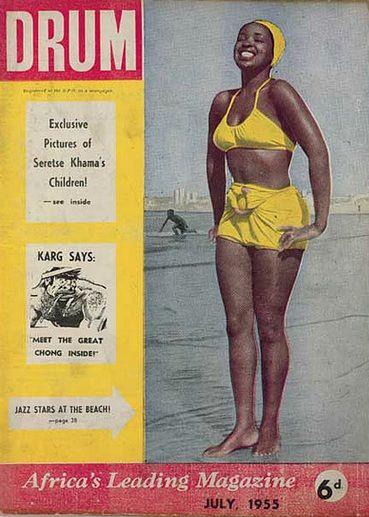 """Drum"", cover of South Africain magazine, july 1955, design by Jurgen Schadeberg"