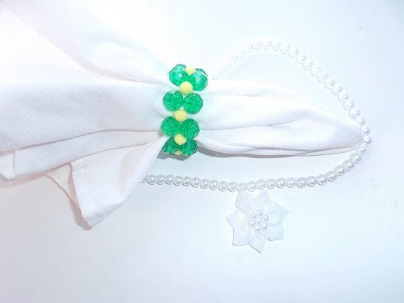 Napkin Ring Napkin Holders Green Napkin Rings by HouseofElohim