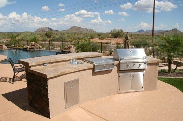 Prefab Granite Countertops Mesa Az : prefab Outdoor Kitchens Kits Split Level Outdoor KitchenOutdoor ...