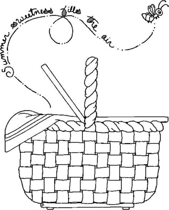 picnic basket coloring page coloring pages picnic