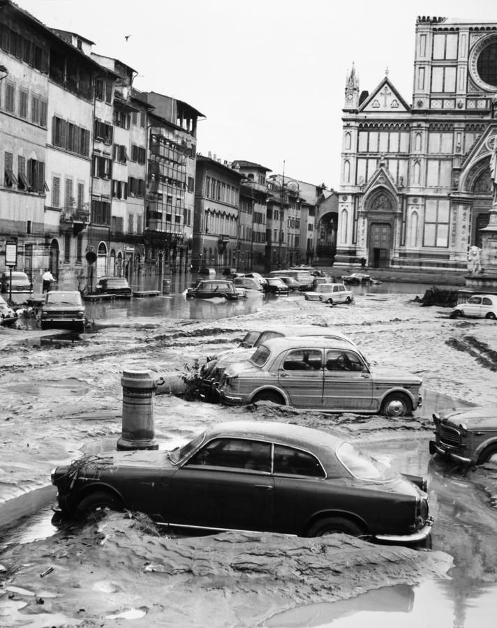 Florence, Italy floods on November 4th, 1966
