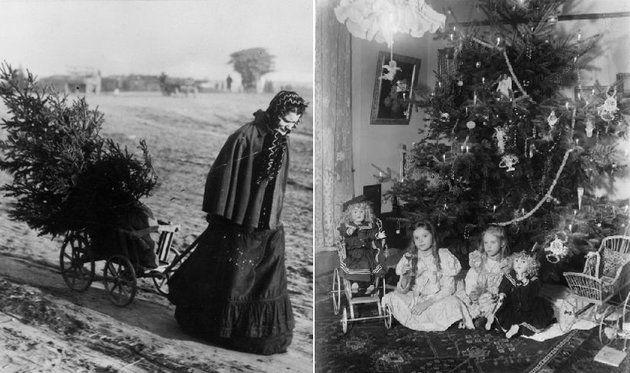 Karácsonyi fotók a viktoriánus korból