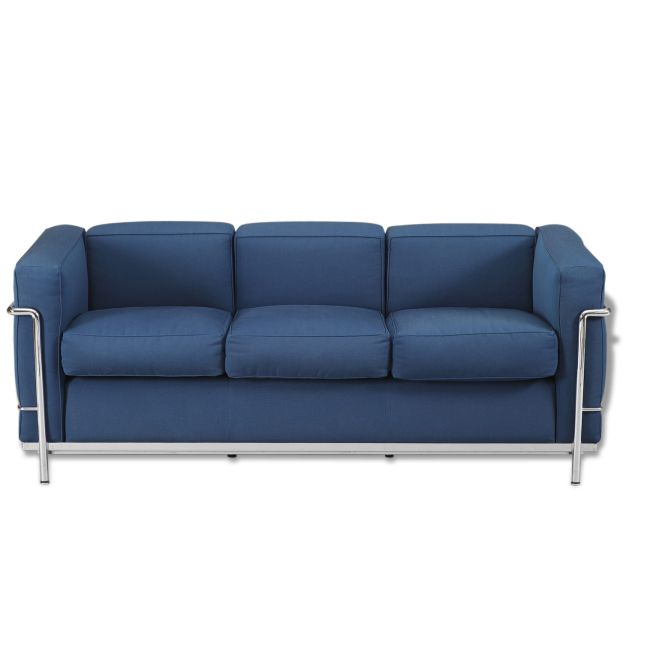 Canapé design Le Corbusier - Tissu - Bleu - Bon état - Design - 35601