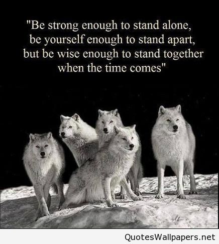 Be strong and stay alone quote