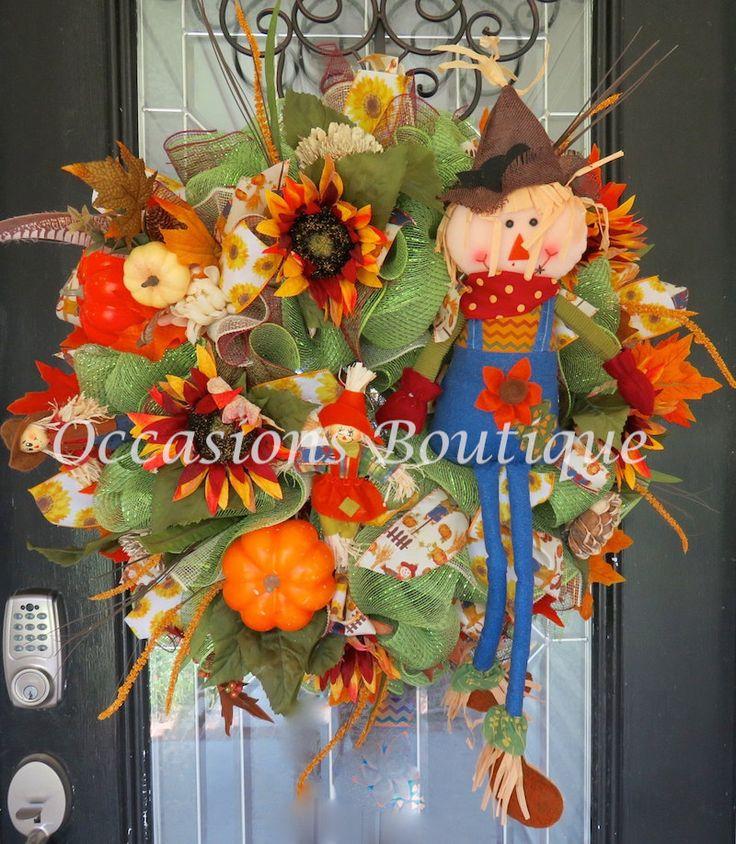 Fall Wreath, Autumn Wreath, Door Hanger, Front door Wreath, Wreath for Door…