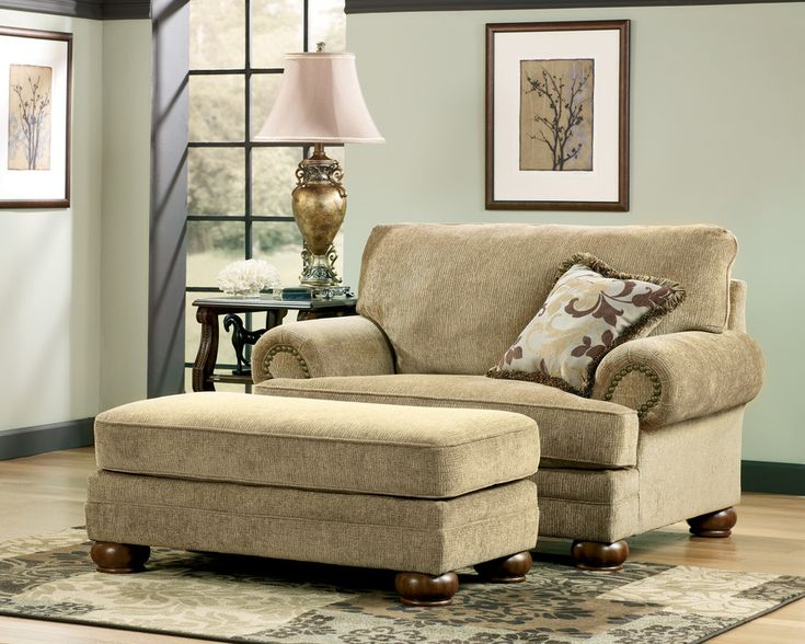 overstuffed chair and a half | Categories >> Chairs >> Lilly Caramel Chair and a Half
