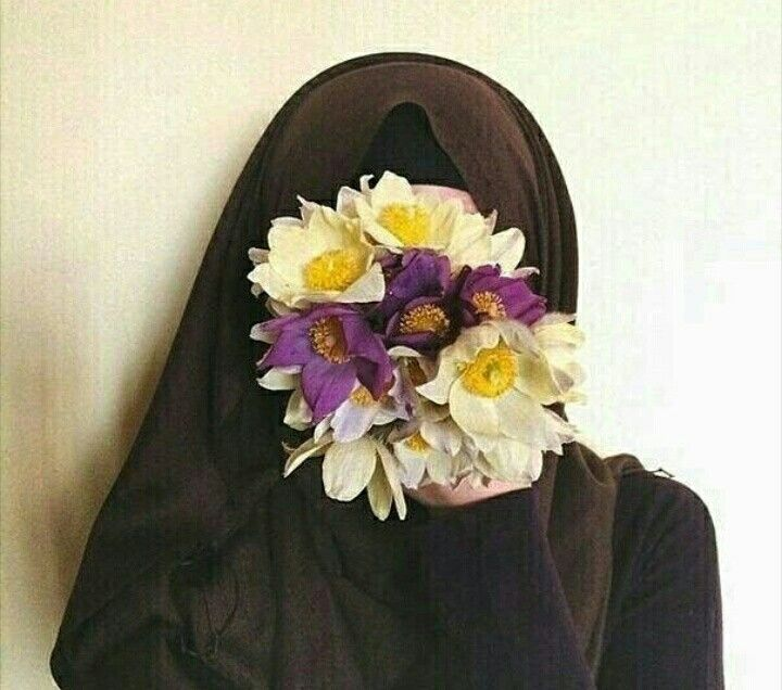 #beautiful #flower #Color #Hijab #Girl