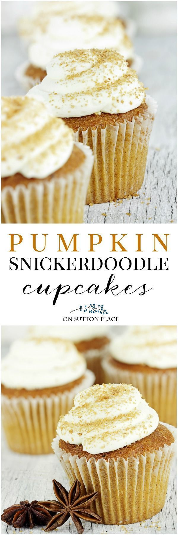 Cupcakes full of pumpkin and cinnamon topped with a cream cheese frosting. Perfect for fall family gatherings or after-school snacks. #pumpkindessert #pumpkincupcake