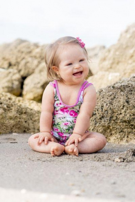 """DC Kids designer Dolores Cortes said she chose baby model Valentina Guerrero, who has Down syndrome, because """"all children deserve the same opportunities."""""""