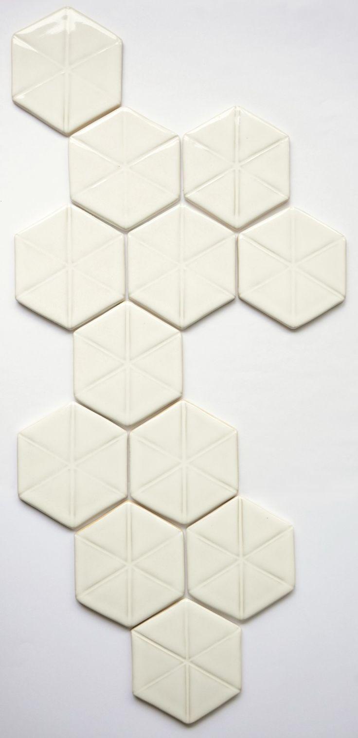 White ceramic tiles Hattulan Kaakelitehdas, Finland