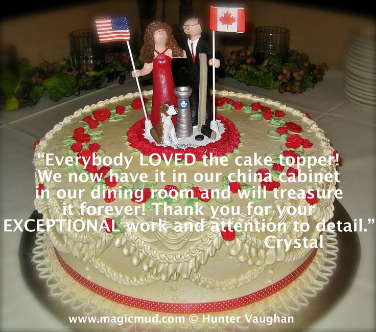 Usa-Canada Wedding Cake Topper http://www.magicmud.com   1 800 231 9814  magicmud@magicmud.com $235  https://twitter.com/caketoppers         https://www.facebook.com/PersonalizedWeddingCakeToppers   #wedding #cake #toppers #custom #personalized #Groom #bride #anniversary #birthday#weddingcaketoppers#cake-toppers#figurine#gift#wedding-cake-toppers #flag#country#flags#pennant#countryFlag#team#university#country-of-origin#USA-flag#old-glory#stars-and-stripes#national-flag#canadaFlag