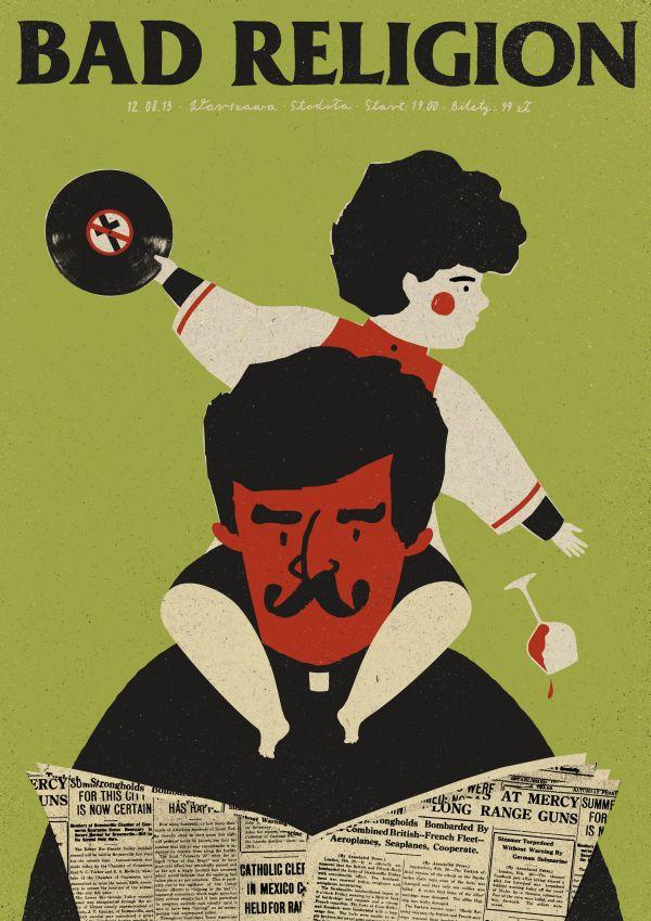Dawid Ryski Bad Religion poster