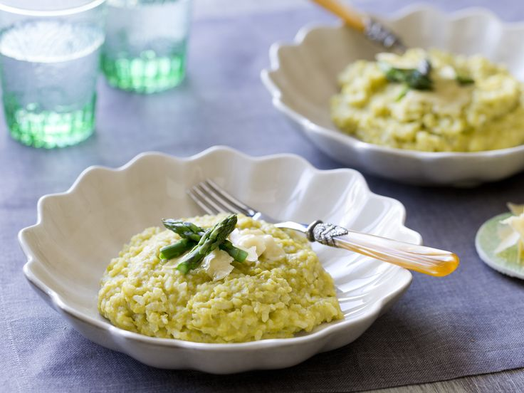 Asparagus risotto #Cookingformenandyou