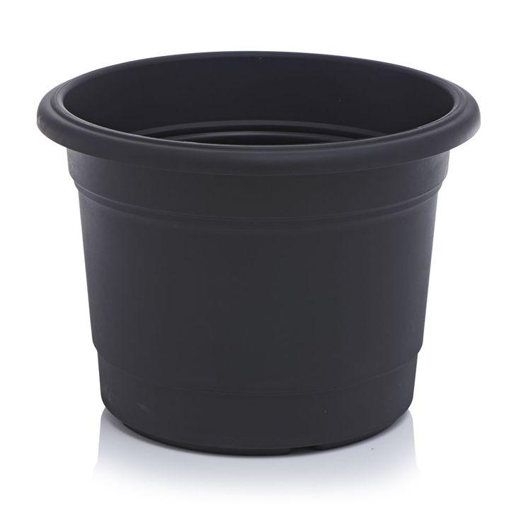 Wilko Planter Round Milano Black 50cm