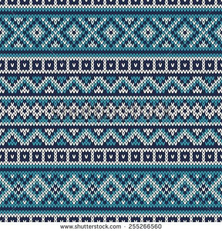 Knitted Sweater Design. Fair Isle Seamless Pattern - stock vector