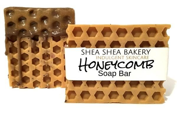 Sweet smelling bar of soap shaped like a real honeycomb! Smells exactly like sweet honey. Does contain Raw Honey which is known to moisturize and soothe skin, add a natural glow, and even has antibacterial properties. Golden color may slightly vary with each batch. Comes with the option of dripped chocolate soap on bars. Each sold separately or as a set of 3.Contains: Coconut Oil, Palm Oil, Safflower Oil, Honey, Glycerin, Shea Butter, Purified Water, Sodium Hydroxide (saponifying agent)…