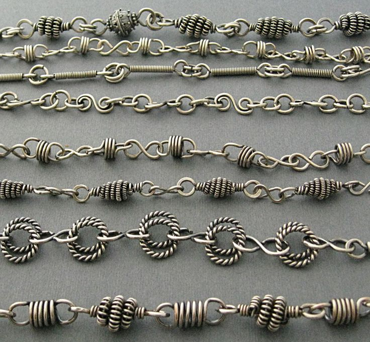 handmade silver chains - these are fab-u-lous!!  Picture only.