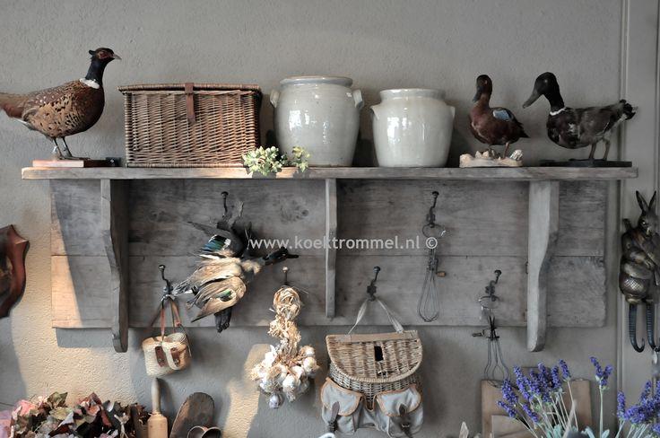 kapstok/wandconsole oude teakhouten delen