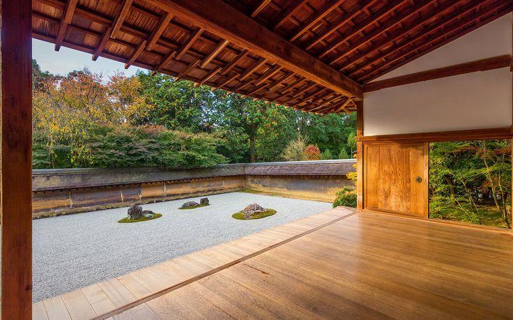 Japanese Temples - Rock Garden, Ryoanji Temple
