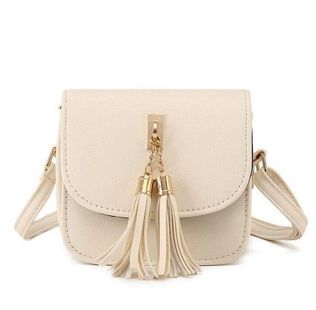Vogue Star Fashion Small Chains Bag Women Candy Color Tassel Messenger Bag
