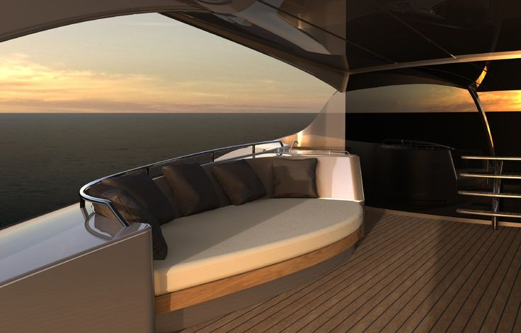 Yacht with outside sofa interior