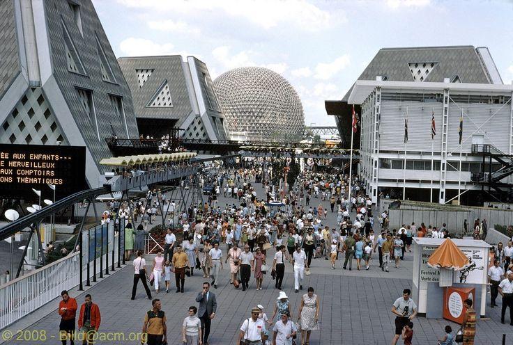 World Fair - Expo 67 - Main Street - Montreal, Quebec , Canada