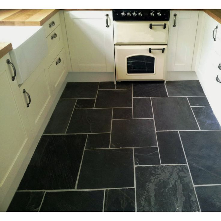 Black Slate Combination Floor Tiles From Crown Tiles Are A Set Of  Multi Sized Slate Floor Tiles, With A Matt Rivened Uneven Surface For A  Natural Look.