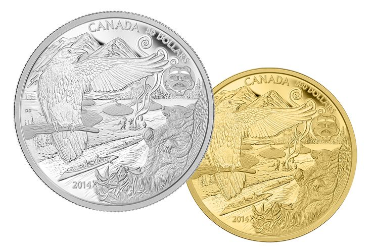 2014 Pure Gold and Fine Silver coins - The Legend of the Spirit Bear