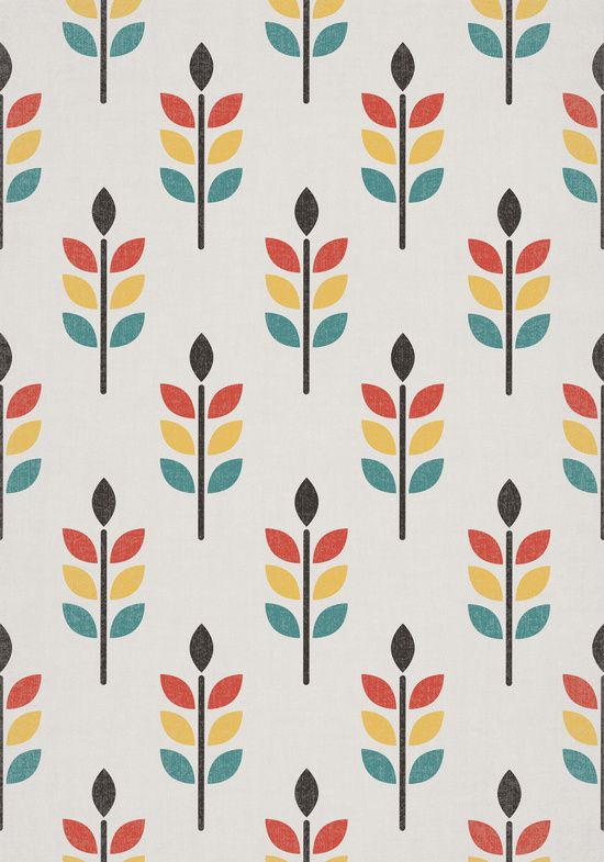 Poster | LEAF PATTERN von Tracie Andrews | more posters at http://moreposter.de