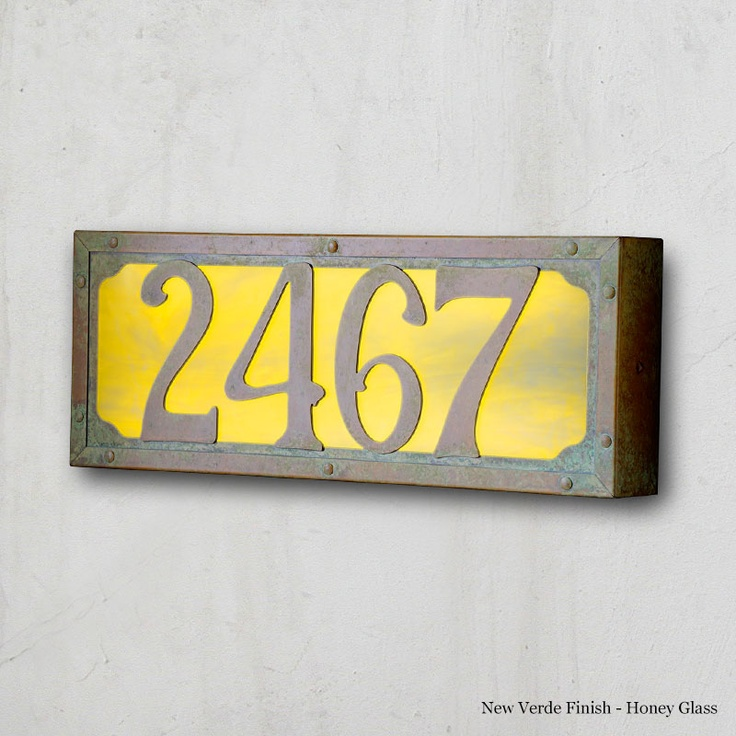 8 Best Images About Illuminated House Numbers On Pinterest