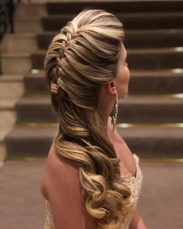 Trança amooo ❤️❤️ #PenteadosSoniaLopes ✨ . . . #sonialopes #cabelo #penteado #noiva #noivas #casamento #hair #hairstyle #weddinghair… | Cabelo de 2019 | Pinterest | Cabelo penteado, Penteados e Cabelo