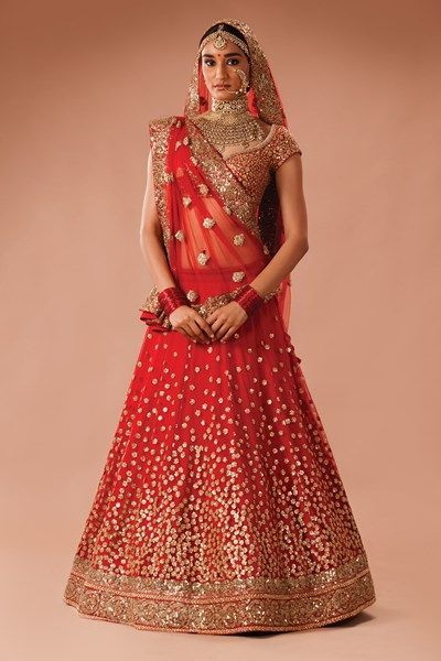 Image result for sabyasachi red wedding lehenga