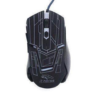 Chianrliu 3200dpi 6 Bouton Conduit Souris Filaire Optique Pour Jeu De Pc Portable, Optical Wired Mouse, Blanc